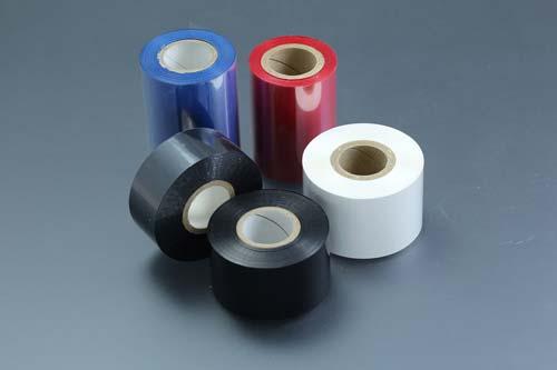 印字「刻印式テープ」「サーマルリボン」「インクロール」